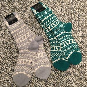 NWT Jcrew cozy trouser socks in Fair Isle